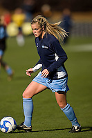 North Carolina Tar Heels defender Rachel Givan (16) during warmups. The North Carolina Tar Heels defeated the Notre Dame Fighting Irish 2-1 during the finals of the NCAA Women's College Cup at Wakemed Soccer Park in Cary, NC, on December 7, 2008. Photo by Howard C. Smith/isiphotos.com