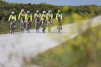 France, Bretagne, (29), Finistère, Presqu'île de Crozon, Crozon:  Cyclistes, vélo club de Crozon