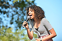 MIRAMAR,  FLORIDA - JANUARY 20: Recording artist Samantha Grady performs during the annual Reverend Dr. Martin Luther King, Jr. Day celebration City Miramar MLK Parades between Sherman Cirrcle and Lakeshore Park on January 20, 2020 in Miramar, Florida.  ( Photo by Johnny Louis / jlnphotography.com )