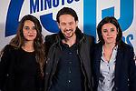 "Noelia Vera, Pablo Iglesias and Irene Montero during the main event of the XV Aniversary of the ""20Minutos"" newspaper at Headquarters of the Community of Madrid, November 24, 2015<br /> (ALTERPHOTOS/BorjaB.Hojas)"