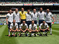 Starting Eleven.  USA Men's National Team loses to Mexico 2-1, August 12, 2009 at Estadio Azteca, Mexico City, Mexico. .   .