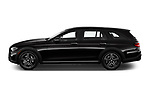 Car Driver side profile view of a 2021 Mercedes Benz E-Class-Wagon E450-All-Terrain 5 Door Wagon Side View