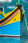 Eurpoe, Malta, Marsaxlokk, Traditional Fishing Boat