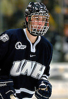 "5 January 2007: University of New Hampshire defenseman Jamie Fritsch (2) from Odenton, MD, in action against the University of Vermont Catamounts at Gutterson Fieldhouse in Burlington, Vermont. The UNH Wildcats defeated Vermont 7-1 in front of a record setting 48th consecutive sellout at ""the Gut""...Mandatory Photo Credit: Ed Wolfstein Photo.<br />"