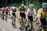 Geraint Thomas (GBR/SKY) behind yellow jersey/GC leader/teammate Gianni Moscon (ITA/SKY) who's jersey he would be waering at the end of this stage<br /> <br /> Stage 5: Grenoble > Valmorel (130km)<br /> 70th Critérium du Dauphiné 2018 (2.UWT)