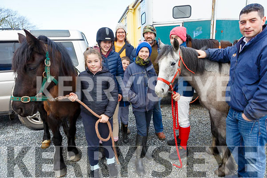 North Kerry Harriers Hunt: Taking part in the North Kerry Harrier's hunt in Asdee on Sunday last were Hannah, Jim, Denis, Eileen Claudia & Brendan O'Connor from Dingle & Shane Tierney from Asdee on right.