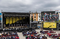 Team DSM at the pre Tour teams presentation of the 108th Tour de France 2021 in Brest at le Grand Départ.<br /> <br /> 108th Tour de France 2021<br /> <br /> ©kramon