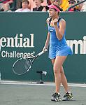 Jana Cepelova (SVK) defeats Belinda Bencic (SUI) at the Family Circle Cup in Charleston, South Carolina on April 5, 2014.