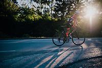 Jakob Reiter (AUT)<br /> <br /> MEN JUNIOR ROAD RACE<br /> Kufstein to Innsbruck: 132.4 km<br /> <br /> UCI 2018 Road World Championships<br /> Innsbruck - Tirol / Austria