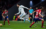 Isco Alarcon of Real Madrid gets tripped during the La Liga 2017-18 match between Atletico de Madrid and Real Madrid at Wanda Metropolitano  on November 18 2017 in Madrid, Spain. Photo by Diego Gonzalez / Power Sport Images