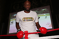 ATLANTIC CITY, NJ - JUNE 8 : Lamar Odom  training at the Showboat hotel on June 8, 2021 in Atlantic City, New Jersey for the Lamar Odom vs. Aaron Carter Celebrity Boxing match this Friday, June 11 <br /> CAP/MPI09<br /> ©MPI09/Capital Pictures