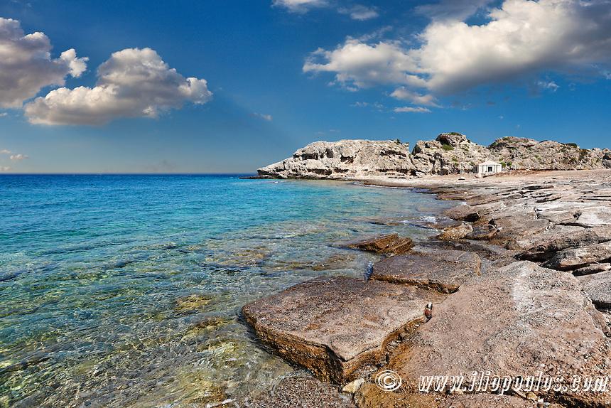 Mylokopi Beach in Corinthia, Greece