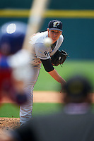 Scranton/Wilkes-Barre RailRiders pitcher Danny Burawa (38) delivers a pitch during a game against the Buffalo Bisons on June 10, 2015 at Coca-Cola Field in Buffalo, New York.  Scranton/Wilkes-Barre defeated Buffalo 7-2.  (Mike Janes/Four Seam Images)