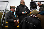 Forfar Athletic 1 Edinburgh City 2, 02/02/2017. Station Park, SPFL League 2. Two half-time draw sellers with home fans at Station Park, Forfar before the SPFL League 2 fixture between Forfar Athletic and Edinburgh City. It was the club's sixth and final meeting of City's inaugural season since promotion from the Lowland League the previous season. City came from behind to win this match 2-1, watched by a crowd of 446. Photo by Colin McPherson.