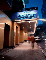 Montreal (Qc) CANADA -1999 file photo-<br /> <br /> Chez Paree strip club in downtown Montreal