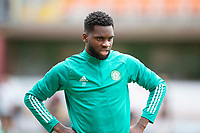 22nd August 2020; Tannadice Park, Dundee, Scotland; Scottish Premiership Football, Dundee United versus Celtic; Odsonne Edouard of Celtic during the warm up before the match