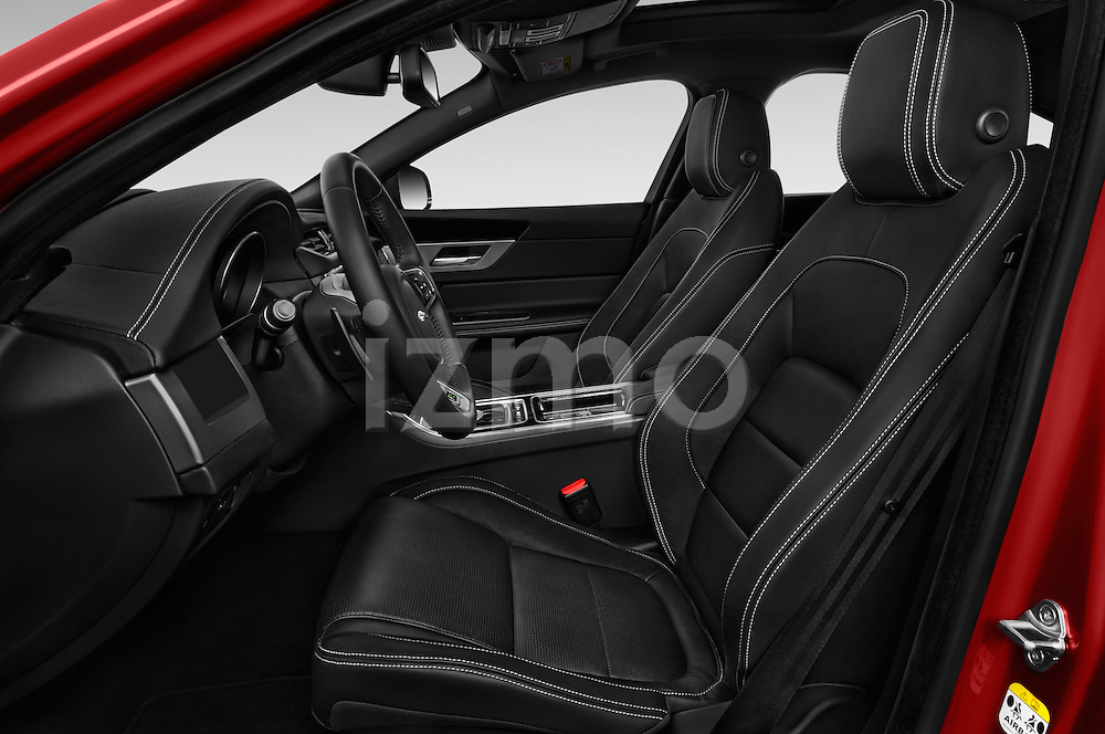 Front seat view of 2018 Jaguar XF 35t-R-Sport 4 Door Sedan Front Seat  car photos