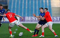23th April 2021; RDS Arena, Dublin, Leinster, Ireland; Rainbow Cup Rugby, Leinster versus Munster; Garry Ringrose (c) of Leinster tries to kick the ball through