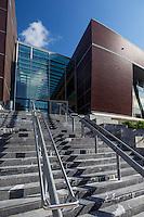 France, Aquitaine, Pyrénées-Atlantiques, Pays Basque, Biarritz: Médiathèque de Biarritz, HPL Architectes,//  France, Pyrenees Atlantiques, Basque Country, Biarritz: Biarritz Multimedia library