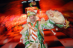 """Charlie Roetz of the Philadelphia Mummers  Quaker City String Band dances at the San Luis Salute to """"The Italian Riviera"""" at the Galveston Island Convention Center at the San Luis Friday  Feb. 20, 2009.(Dave Rossman/For the Chronicle)"""