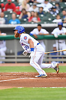 Tennessee Smokies designated hitter Jesse Hodges (36) swings at a pitch during a game against the Birmingham Barons at Smokies Stadium on May 15, 2019 in Kodak, Tennessee. The Smokies defeated the Barons 7-3. (Tony Farlow/Four Seam Images)