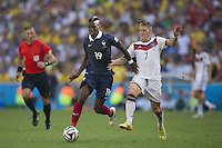 Paul Pogba of France and Bastian Schweinsteiger of Germany