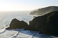 Coastline along the Whites Beach on West Coast and looking north of Piha township - West Auckland, New Zealand