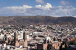 The skyline of the city of Zacatecas, Mexico. The historic centre of Zacatecas is a UNESCO World Heritage site.