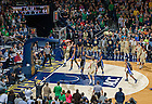 Jan. 4, 2014; Pat Connaughton dunks as Duke Blue Devils forward Jabari Parker (1) defends in the first ACC game for the Notre Dame Men's Basketball team. Notre Dame defeated Duke 79-77. <br /> <br /> Photo by Matt Cashore