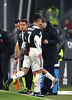 Calcio, Serie A: Juventus - Milan, Turin, Allianz Stadium, November 10, 2019.<br /> Juventus' Cristiano Ronaldo (r) leaves the pitch after being substituted by Juventus' Paulo Dybala (l) during the Italian Serie A football match between Juventus and Milan at the Allianz stadium in Turin, November 10, 2019.<br /> UPDATE IMAGES PRESS/Isabella Bonotto
