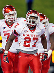 Houston Cougars wide receiver Daniel Spencer (27) in action during the game between the University of Houston Cougars and the Southern Methodist Mustangs at the Gerald J. Ford Stadium in Dallas, Texas. SMU defeats Houston 72 to 42...