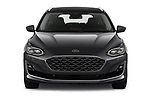 Car photography straight front view of a 2019 Ford Focus-Clipper Vignale 5 Door Wagon