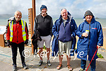 Relaxing in Fenit on Saturday, l to r: David Magner, John Joe Sheehy, Kevin Williams and Eddie Stack.