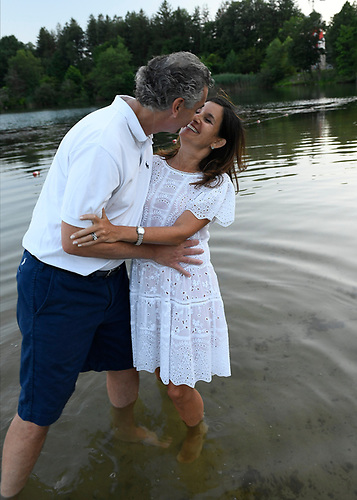 A Bat Mitzvah girl's family portraits at home and at the lake in Armonk, New York