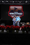 Savannah Greenfield during the Break Away and Tie Down Roping Back Number presentation at the Junior World Finals. Photo by Andy Watson. Written permission must be obtained to use this photo in any manner.