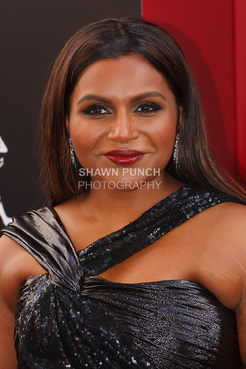 Mindy Kaling arrives at the World Premiere of Ocean's 8 at Alice Tully Hall in New York City, on June 5, 2018.