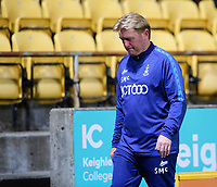 Bradford City's Manager Stuart McCall at the end of the game<br /> <br /> Photographer Chris Vaughan/CameraSport<br /> <br /> Carabao Cup Second Round Northern Section - Bradford City v Lincoln City - Tuesday 15th September 2020 - Valley Parade - Bradford<br />  <br /> World Copyright © 2020 CameraSport. All rights reserved. 43 Linden Ave. Countesthorpe. Leicester. England. LE8 5PG - Tel: +44 (0) 116 277 4147 - admin@camerasport.com - www.camerasport.com