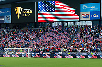 KANSAS CITY, KS - JULY 11: USA supporters during a game between Haiti and USMNT at Children's Mercy Park on July 11, 2021 in Kansas City, Kansas.