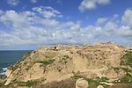 Israel, the Crusader fortress at Apollonia National Park