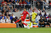 St. Paul, MN - Tuesday June 18, 2019: Aaron Long of the United States during a 2019 CONCACAF Gold Cup group D match between the United States and Guyana on June 18, 2019 at Allianz Field in Saint Paul, Minnesota.