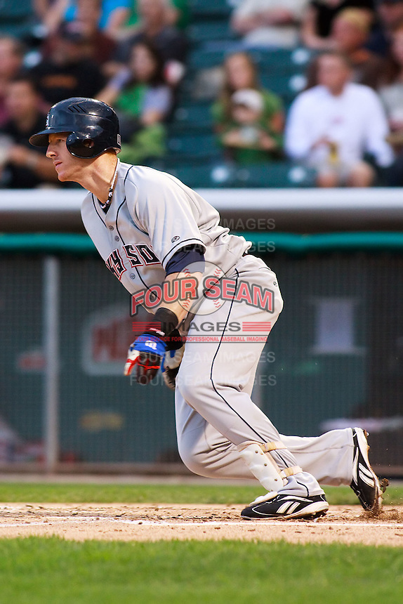June 17, 2009: Matt Murton of the Colorado Springs Sky Sox, Pacific Cost League Triple A affiliate of the Colorado Rockies, during a game at the Spring Mobile Ballpark in Salt Lake City, UT.  Photo by:  Matthew Sauk/Four Seam Images