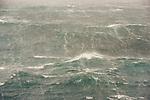Rough seas near South Georgia Island.