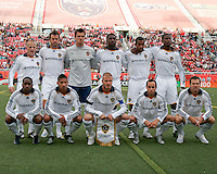LA Galaxy Starting 11 in the 2-2 draw between Real Salt Lake and the Los Angeles Galaxy on May 3, 2008 at Rice-Eccles Stadium in Salt Lake City, Utah