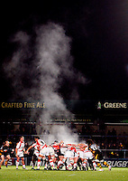 Photo: Richard Lane/Richard Lane Photography. London Wasps v Newport Gwent Dragons. Amlin Challenge Cup. 13/10/2012. Scrum steam.
