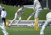 Matt Henry bowls during day two of the Plunket Shield match between the Wellington Firebirds and Canterbury at Basin Reserve in Wellington, New Zealand on Tuesday, 20 October 2020. Photo: Dave Lintott / lintottphoto.co.nz