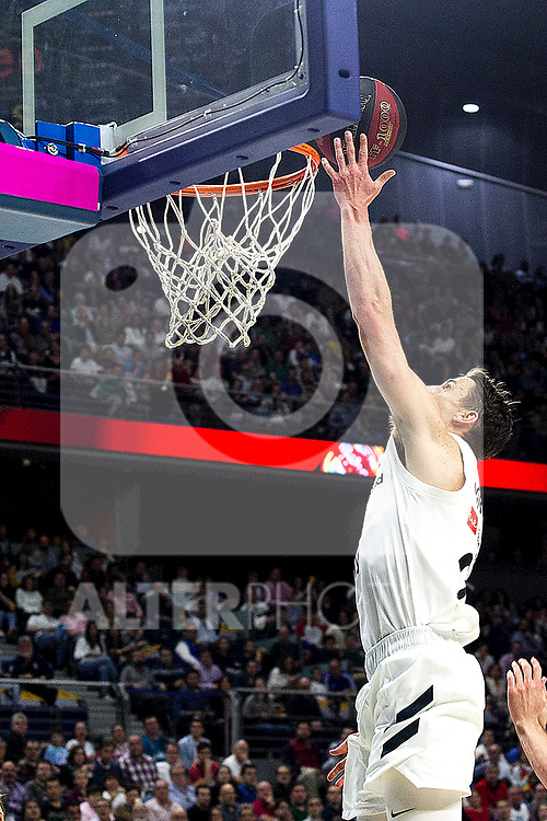 Real Madrid's Jaycee Carroll during Liga Endesa match between Real Madrid and FC Barcelona Lassa at Wizink Center in Madrid, Spain. March 24, 2019.  (ALTERPHOTOS/Alconada)