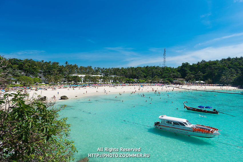 Panorama of the Patok bay from Raya resort viewpoint, Raya island, Thailand
