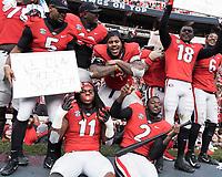 Athens, Georgia - November 24, 2018: Sanford Stadium, the number 5 ranked University of Georgia Bulldogs play the Georgia Tech Yellow Jackets.  Final score UGA 45, Georgia Tech 21.