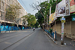 Deserted College street in Kolkata, it is the largest book market in the country and is one of the most important and recognised places in the city. India is going through the 2nd phase of lockdown due to covid 19 pandemic. This is to curb the spread of Covid 19 in the country. The second phase is handled with more strict rules by the administration. Kolkata, West Bengal, India. Arindam Mukherjee.
