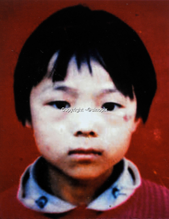 Wen Panpan (7), born in1991. Missing at her village - Da Liu County of Yancheng in Luohe City of Henan Province on15 Nov 1998.   Girls in China are increasingly targeted and stolen as there is a shortage of wives as the gender imbalance widens with 120 boys for every 100 girls...PHOTO BY SINOPIX